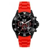 Sat ICE Watch Chrono Black Sili Red Big | Svet Satova